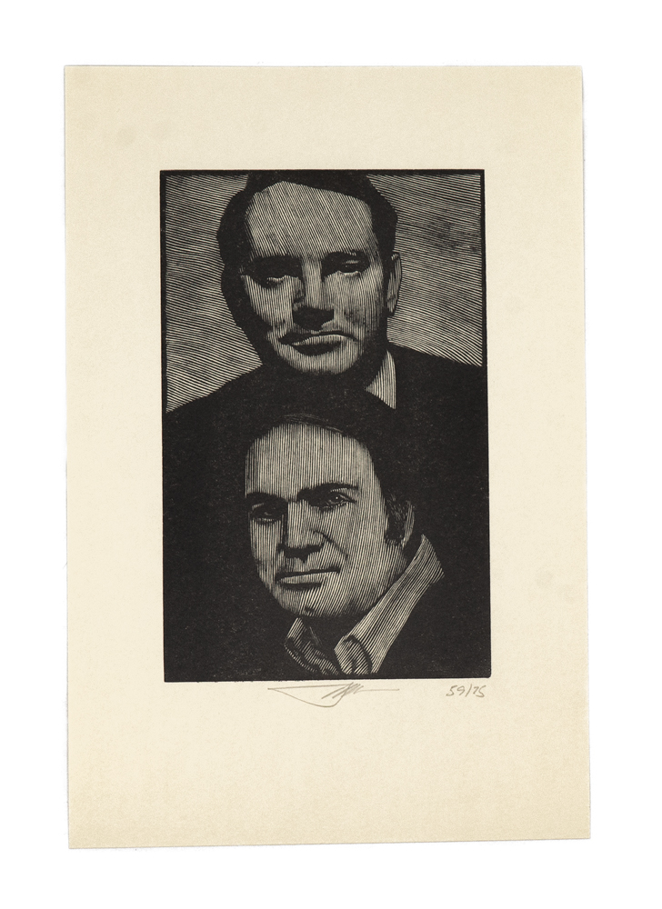 Thomas Wolfe and Pat Conroy [Print]. BARRY MOSER.