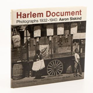 Harlem Document: Photographs 1932–1940 [Association copy]. AARON SISKIND
