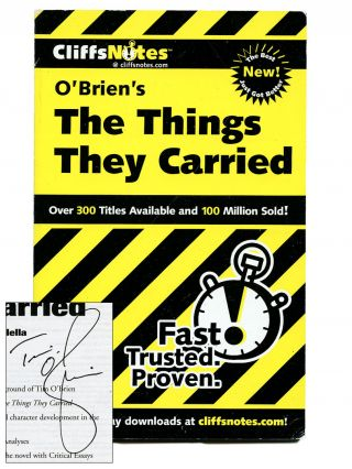CliffsNotes O'Brien's The Things They Carried by Jill Colella. TIM O'BRIEN