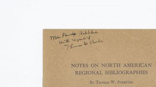 Notes on North American Regional Bibliographies