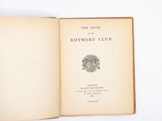 Book of the Rhymers' Club