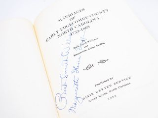 Marriages of Early Edgecombe County North Carolina, 1733-1868