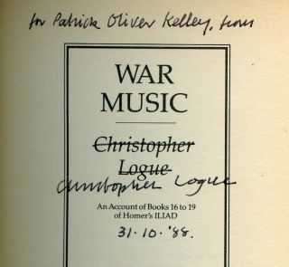 War Music: An Account of Books 16 to 19 of Homer's Iliad