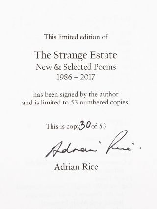 The Strange Estate; New and Selected Poems 1986-2017